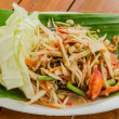 Green papaya salad thai food — Stock Photo
