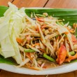 Green papaya salad thai food — Stock Photo #33389515