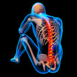 Skeleton of the man with the backbone — Stock Photo #36682139