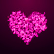 Pink hearts bokeh as background — Stock Photo