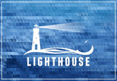 Lighthouse symbol — Stock Vector