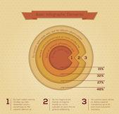 современный бизнес круг инфографика баннер. — Cтоковый вектор