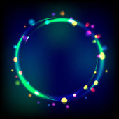 Multicolor glowing circle frame with sparkles. — Wektor stockowy