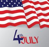 American flag, patriotic vector illustration — Stockvektor