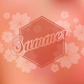 Stylish Summer seasonal card design — Stock Vector