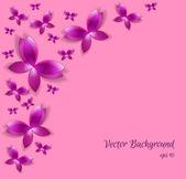 Vector background with butterflies — Stockvektor