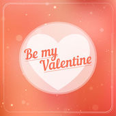 Romantic typography on a soft blurry background. Valentine's Day card. — Stock Vector