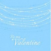 Valentýna ilustrace s delikátní krásná dekorace — Stock vektor