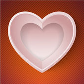 Vector heart happy Valentine day love paper 3D frame — 图库矢量图片