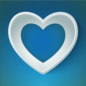 Vector heart happy Valentine day love paper 3D frame — Vector de stock