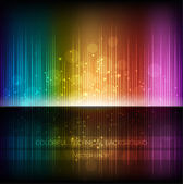 Abstract equalizer background. Multicolor rainbow wave. — Vector de stock