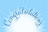 Congratulations lettering illustration hand written design on a lite-blue background — Stockvector
