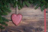 Corazón de Navidad — Foto de Stock