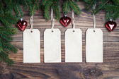 Christmas labels — Stock Photo