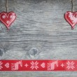 Christmas hearts — Stock Photo