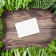 Vegetables with paper — Foto de Stock