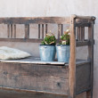 Shabby chic bench — Stock Photo #40244799