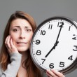 Young woman running out of time — Stock Photo #41137563