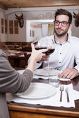 Man with glass — Stock Photo