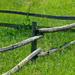 Fence on green — Stock Photo