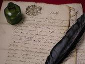 древние письмо — Стоковое фото