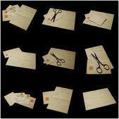 Cartas e acessórios — Foto Stock