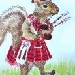 Squirrel Bagpiper — Stock Photo #24425943
