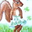 Stock Photo: Squirrel of the Irish Dance
