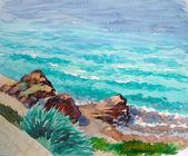 Onda mediterranea sea.rhodes — Foto Stock