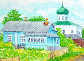 Russian Country — Stock Photo