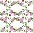 Seamless pattern with tulips — Stock Photo