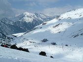 Ski resort on the French Pyrenees — Stock Photo