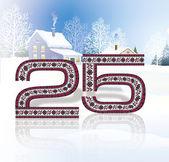 25 twenty five snow — Stock Photo