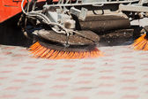 Part of a street cleaning vehicle — Stock Photo