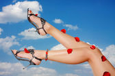 Beautiful woman legs — Stock Photo