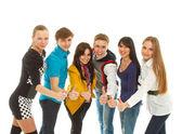 Duża grupa młodych — Zdjęcie stockowe