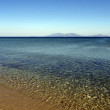 Blue sea, limpid water panorama — Stock Photo