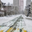 White Winter in Montreal - Stock Photo