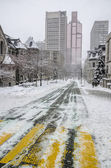 White Winter in Montreal — Stock Photo