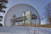 Montreal Biosphere in winter — Stock Photo