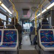 Interior of a montreal bus — Stock Photo #23930081