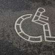 Wheelchair symbol — Stock Photo