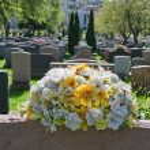 Gravestones in an american Cemetery — Stock Photo