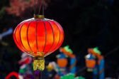 Beautiful red chinese lantern — Stock Photo