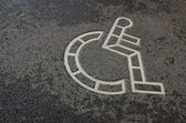Simbolo della sedia a rotelle — Foto Stock
