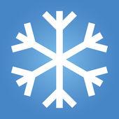 単純な雪のフレーク — ストック写真