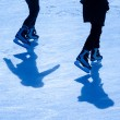 Two skating — Stock Photo