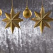 A group of Christmas ball And star — Stock Photo