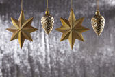 A group of Christmas Pine Cone And star — Stock Photo