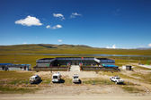 Chinese army outpost in Tibet Plateau — Stock Photo